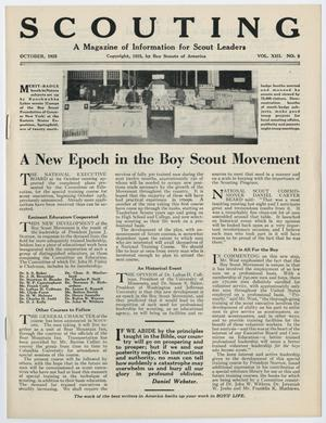 Primary view of Scouting, Volume 13, Number 9, October 1925