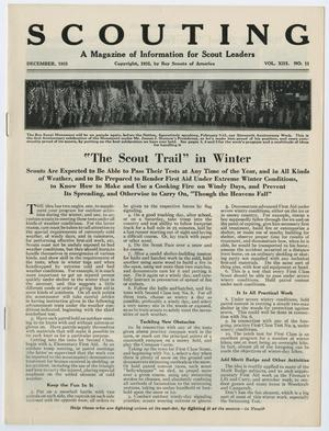 Primary view of Scouting, Volume 13, Number 11, December 1925