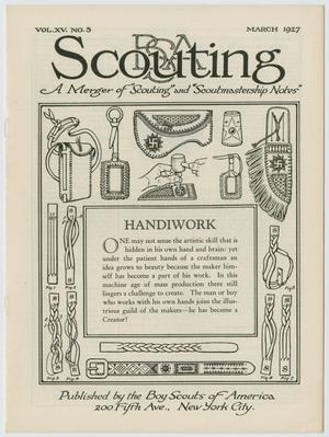 Primary view of object titled 'Scouting, Volume 15, Number 3, March 1927'.
