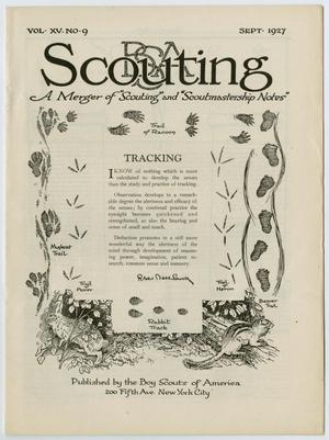 Primary view of object titled 'Scouting, Volume 15, Number 9, September 1927'.