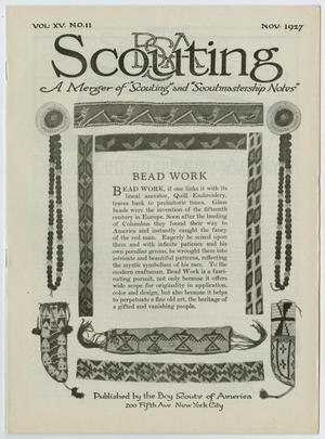 Primary view of object titled 'Scouting, Volume 15, Number 11, November 1927'.