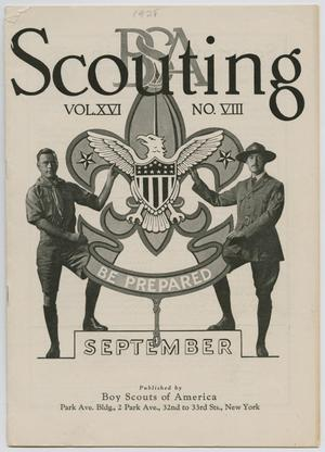 Primary view of object titled 'Scouting, Volume 16, Number 8, September 1928'.