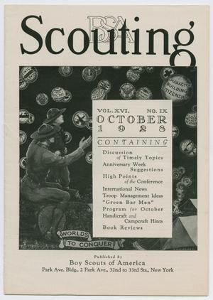 Scouting, Volume 16, Number 9, October 1928