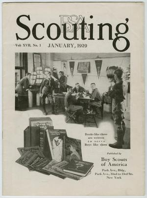 Primary view of object titled 'Scouting, Volume 17, Number 1, January 1929'.