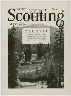 Primary view of object titled 'Scouting, Volume 17, Number 5, May 1929'.