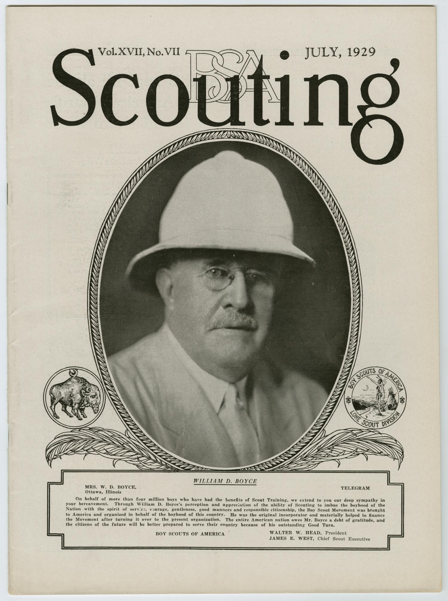 Scouting, Volume 17, Number 7, July 1929                                                                                                      225