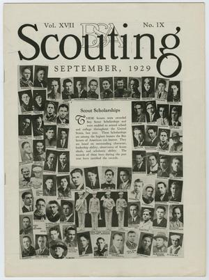 Primary view of object titled 'Scouting, Volume 17, Number 9, September 1929'.