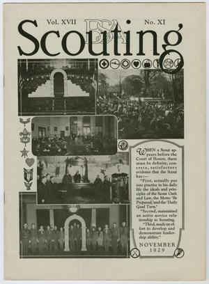 Primary view of object titled 'Scouting, Volume 17, Number 11, November 1929'.