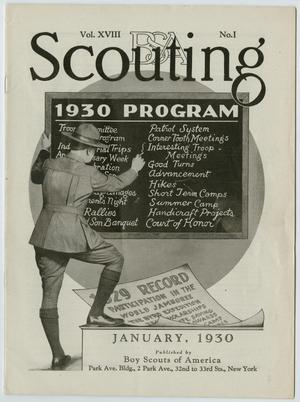 Scouting, Volume 18, Number 1, January 1930