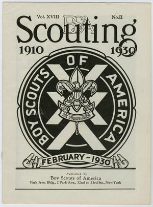 Primary view of object titled 'Scouting, Volume 18, Number 2, February 1930'.