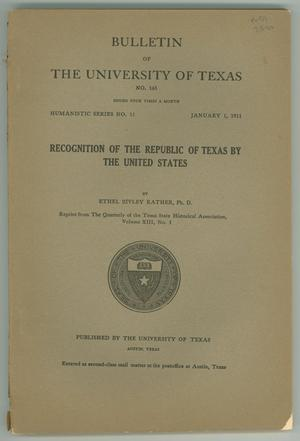 Primary view of object titled 'Bulletin of the University of Texas No. 165, January 1, 1911'.