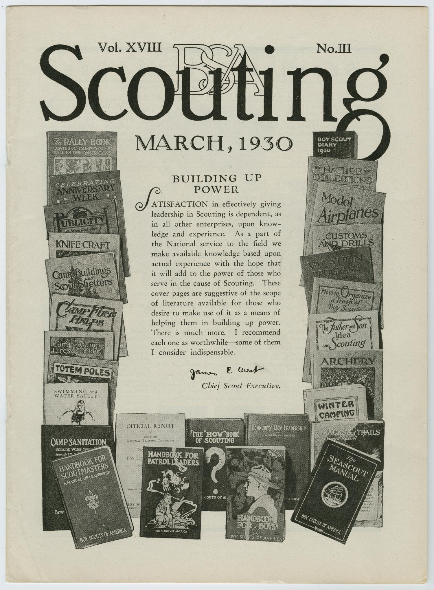 Scouting, Volume 18, Number 3, March 1930                                                                                                      57
