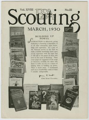 Primary view of object titled 'Scouting, Volume 18, Number 3, March 1930'.