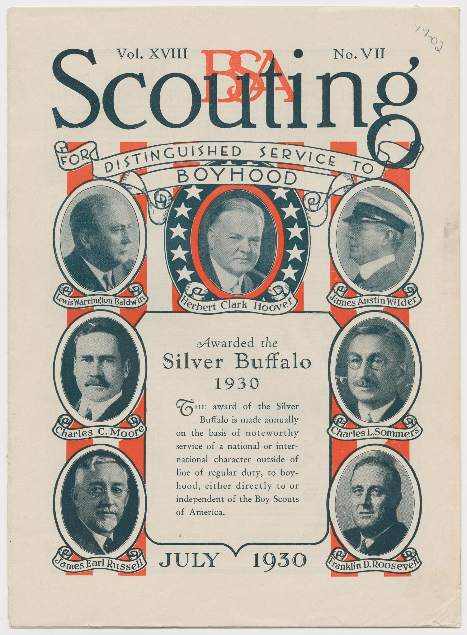 Scouting, Volume 18, Number 7, July 1930                                                                                                      181