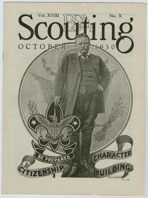 Primary view of object titled 'Scouting, Volume 18, Number 10, October 1930'.