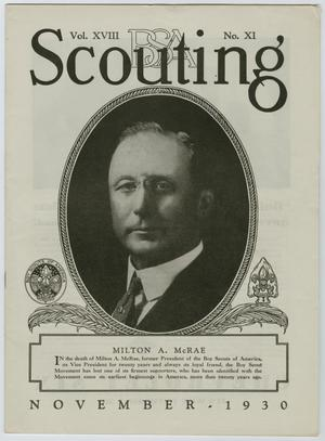 Primary view of object titled 'Scouting, Volume 18, Number 11, November 1930'.
