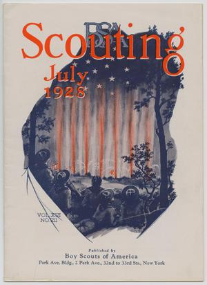 Primary view of object titled 'Scouting, Volume 16, Number 7, July 1928'.
