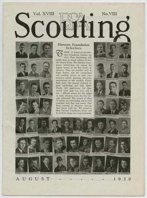 Primary view of object titled 'Scouting, Volume 18, Number 8, August 1930'.