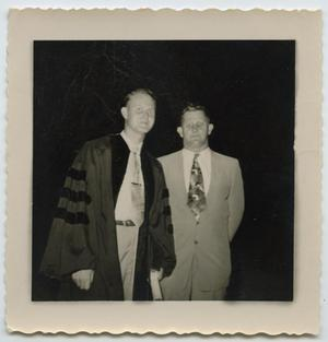 [Graduation Photo of Wendell Tarver and Father]