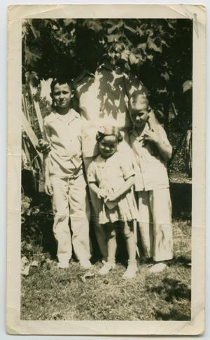 [Photograph of Tarver Family Outside]
