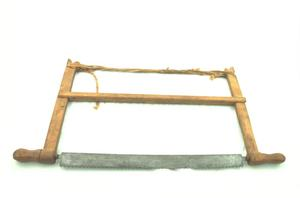 Primary view of object titled 'Bow saw'.