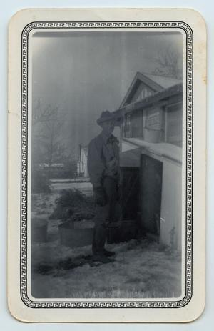 Primary view of object titled '[Outdoor Photograph of Wendell Tarver]'.