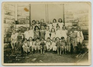 Primary view of object titled '[Burnet, Texas First Grade Class Photo]'.