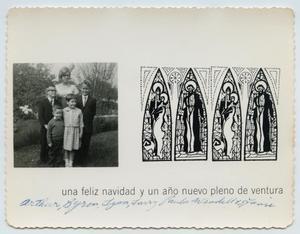 [Tarver Family Christmas Card, 1966]