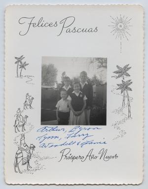 [Tarver Family Christmas Card, 1967]