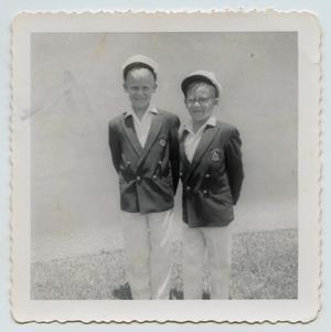 [John Arthur and Byron Lee Tarver in School Uniforms]
