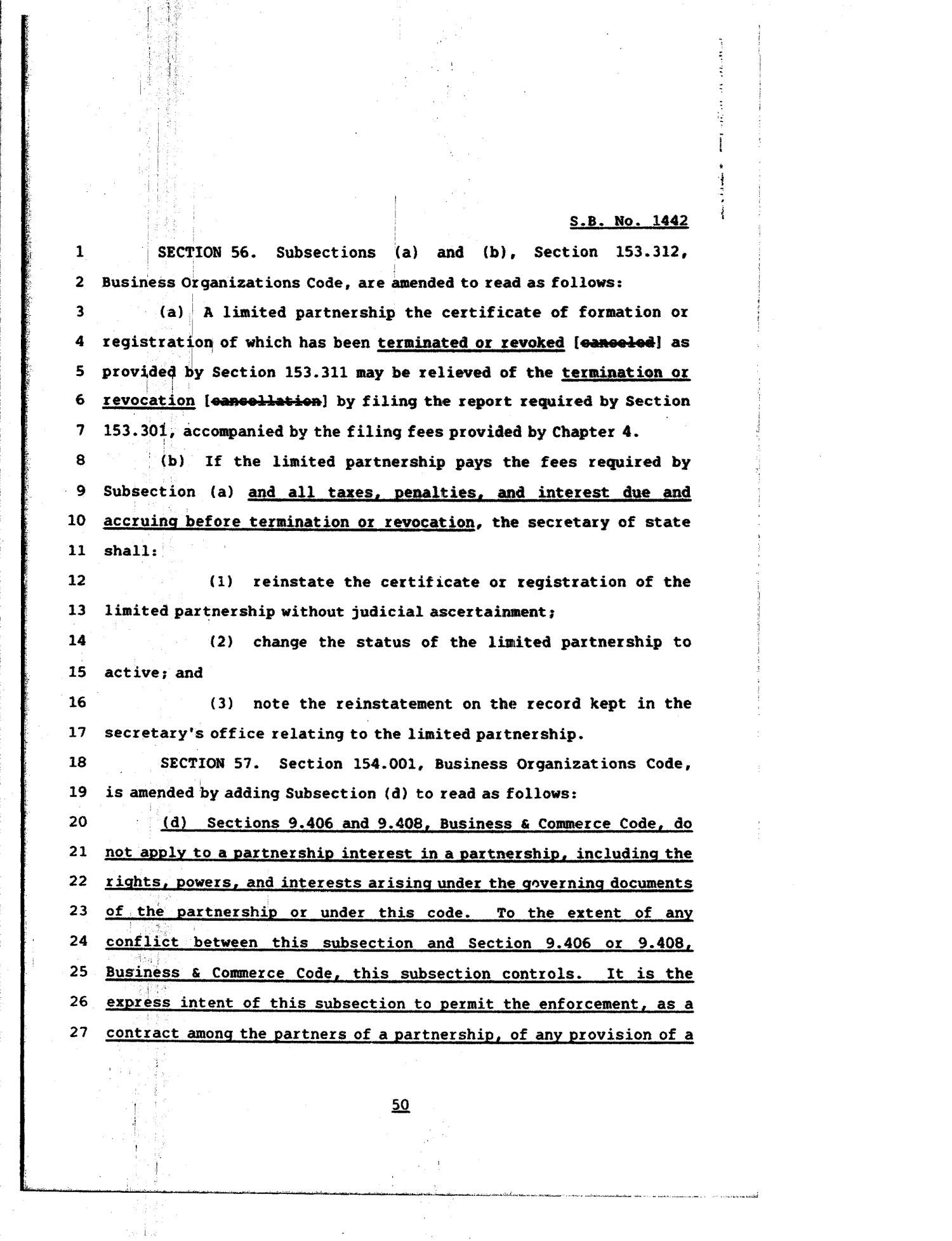 81st Texas Legislature, Regular Session, Senate Bill 1442, Chapter 84                                                                                                      [Sequence #]: 50 of 64