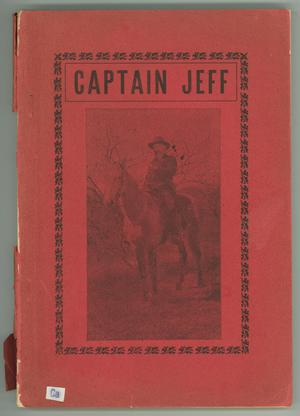 Primary view of object titled 'Captain Jeff or Frontier Life in Texas with the Texas Rangers'.