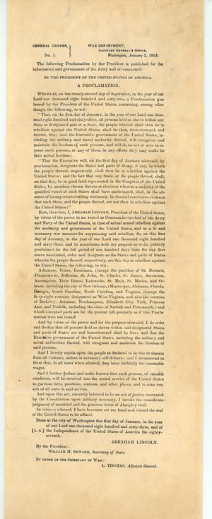 Primary view of object titled 'Presidential Proclamation'.