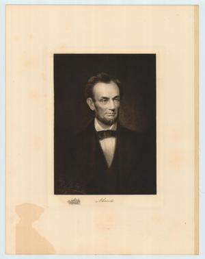 Primary view of object titled 'Engraved print of Abraham Lincoln'.