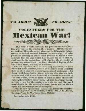 "Primary view of object titled '""To Arms!  To Arms!  Volunteers for the Mexican War!""'."