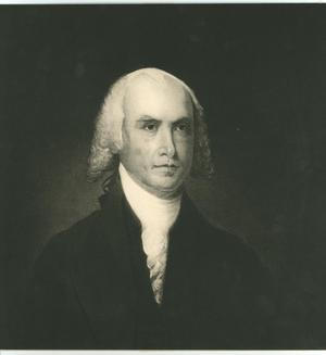 Primary view of object titled 'Portrait of James Madison'.