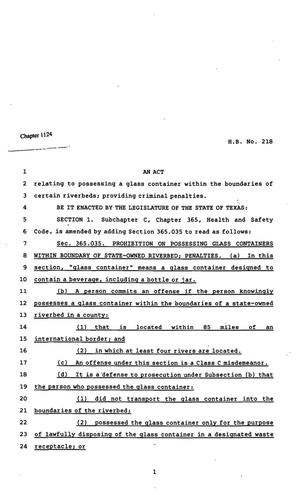 82nd Texas Legislature, Regular Session, Senate Bill 218, Chapter 1124