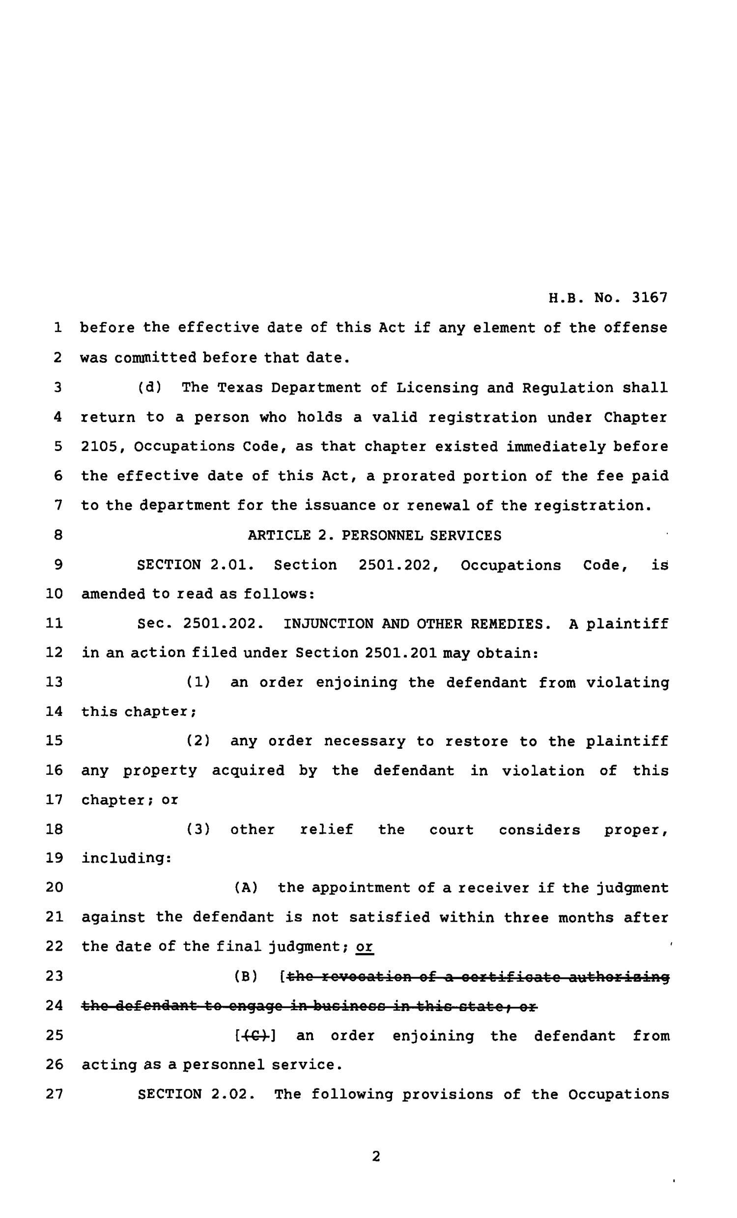 82nd Texas Legislature, Regular Session, House Bill 3167, Chapter 565                                                                                                      [Sequence #]: 2 of 4