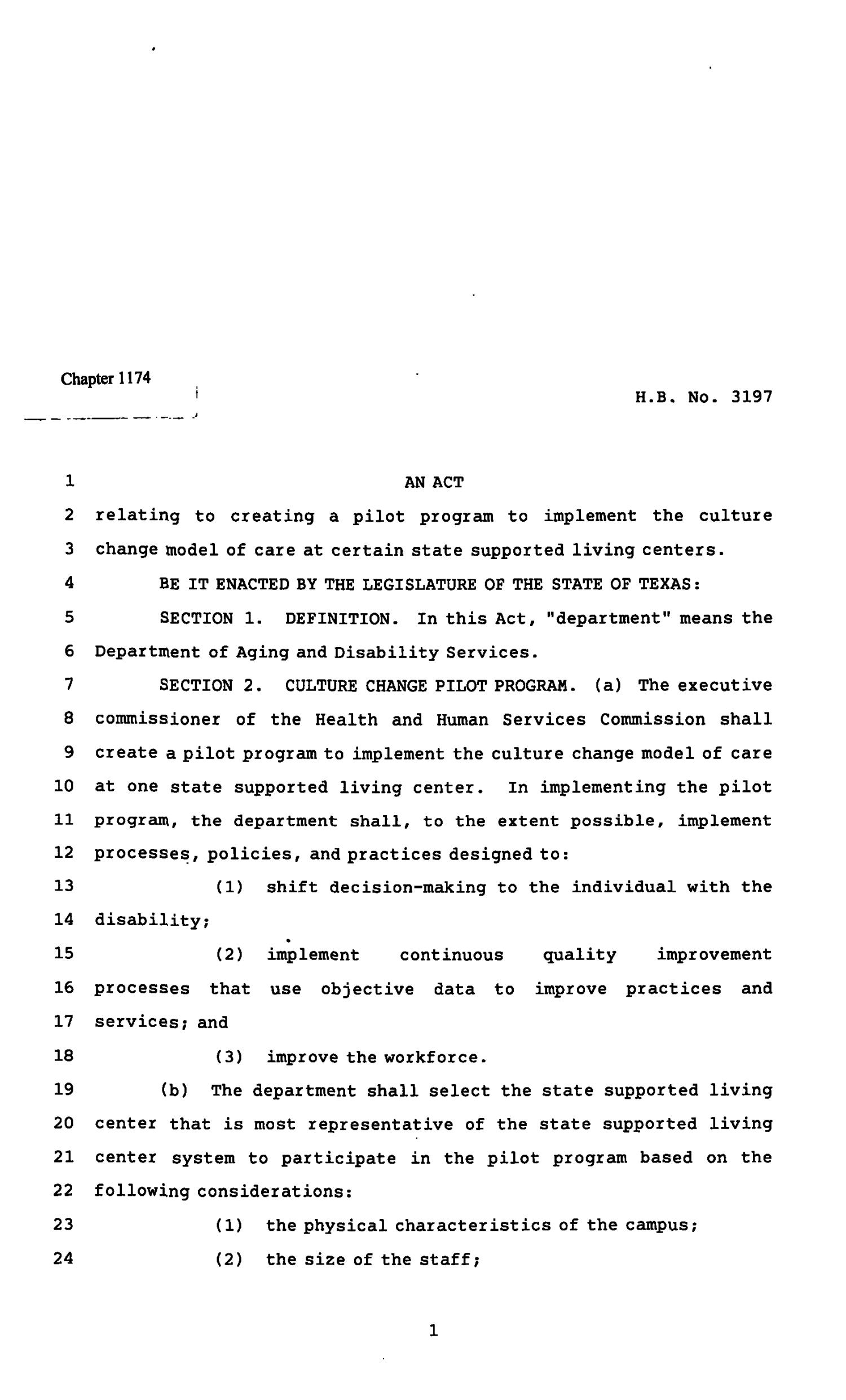 82nd Texas Legislature, Regular Session, House Bill 3197, Chapter 1174                                                                                                      [Sequence #]: 1 of 6