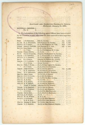 Primary view of object titled '[List of Officers Who Have Resigned]'.
