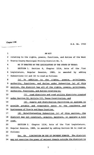 82nd Texas Legislature, Regular Session, House Bill 3743, Chapter 1188