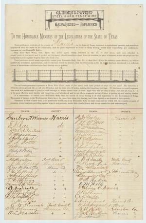 Primary view of object titled 'Petition to the State Legislature'.
