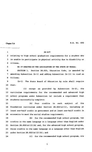 82nd Texas Legislature, Regular Session, House Bill 692, Chapter 714