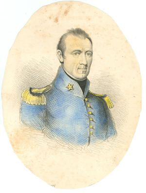Primary view of object titled 'Portrait of General Sam Houston'.