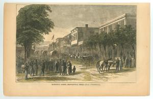 Primary view of object titled '[Harper's Weekly: Elizabeth Street, Brownsville, Texas]'.