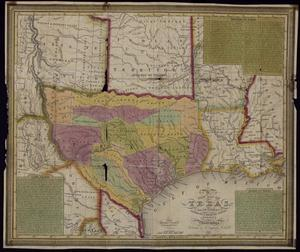 Primary view of object titled 'New Map of Texas, with the contiguous American & Mexican States'.