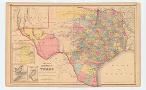 Primary view of object titled 'New Map of the State of Texas Compiled from J.De Cordova's Large Map'.