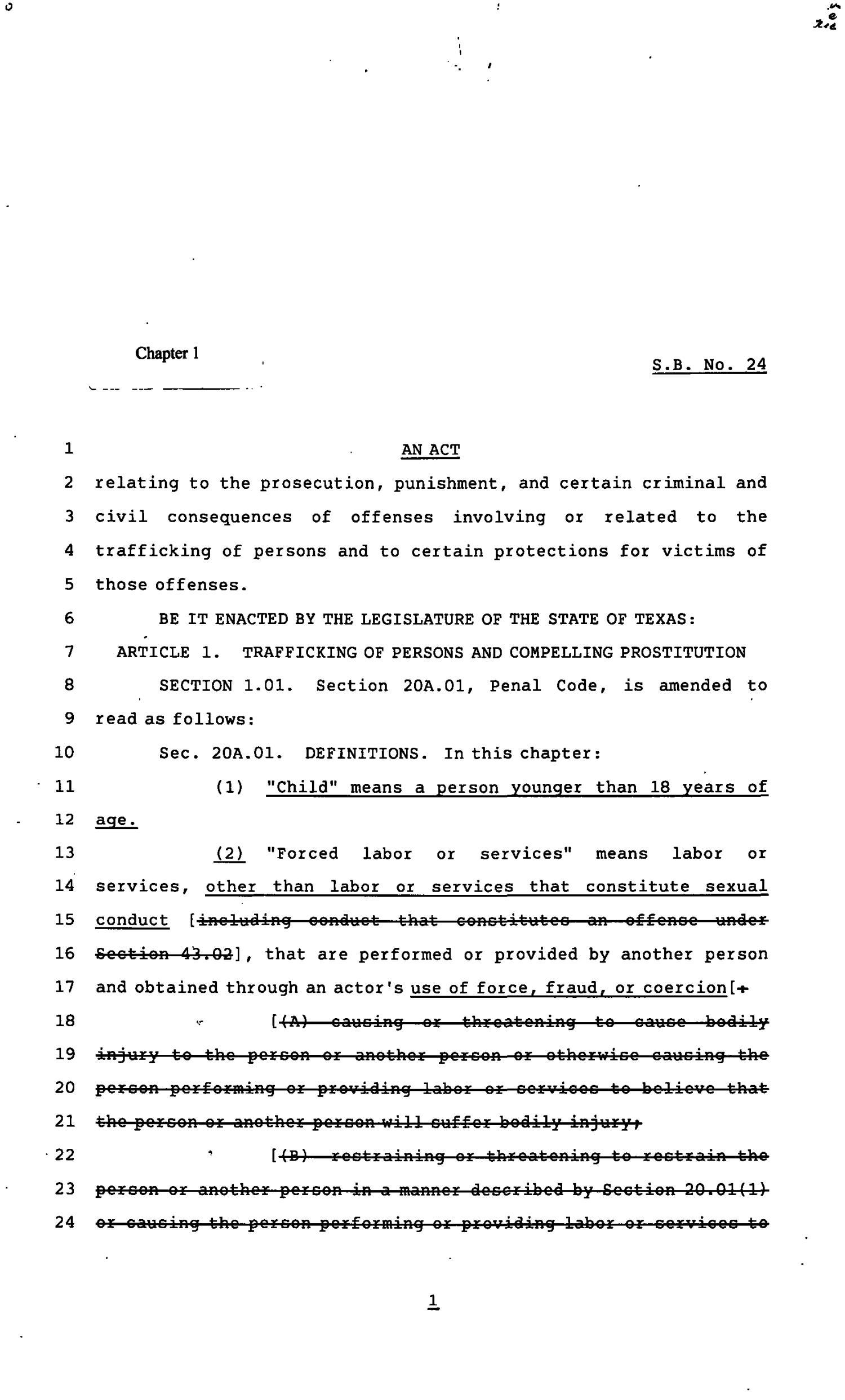 82nd Texas Legislature, Regular Session, Senate Bill 24