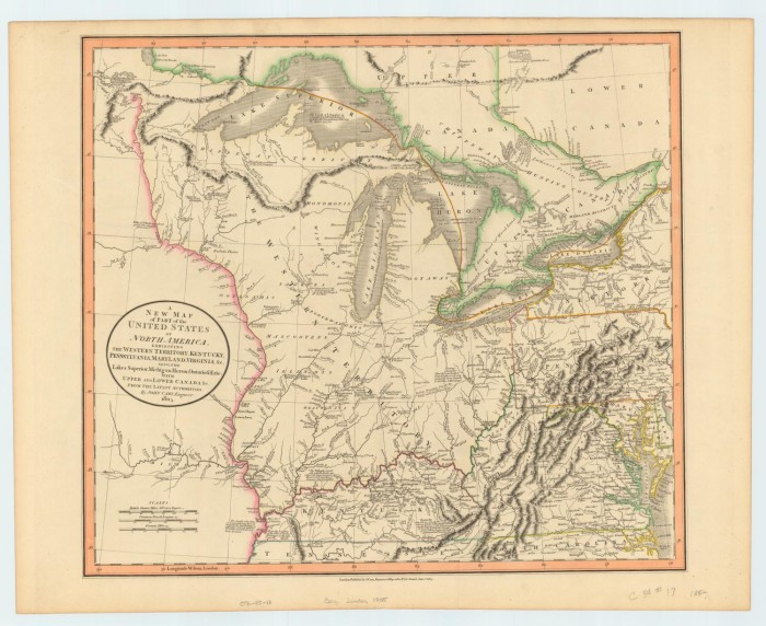 A New Map of Part of the United States of North America, Exhibiting ...