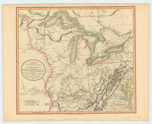 Primary view of A New Map of Part of the United States of North America, Exhibiting the Western Territory, Kentucky, Pennsylvania, Maryland, Virginia etc.